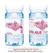 Etiquette eau personnalisable Mariage