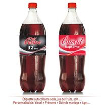 Etiquette personnalisée soda