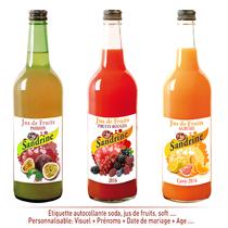 Etiquette personnalisée jus de fruits