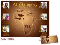Plan de Table Mariage - Tribus Afrique