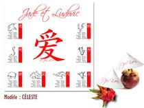Plan de Table Mariage - Zodiaque Chinois