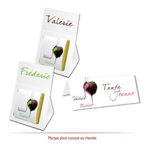 marque-place chocolats personnalisés