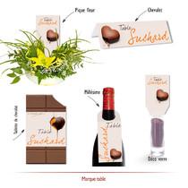 marque-table chocolat