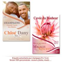 Etiquette Champagne personnalisée