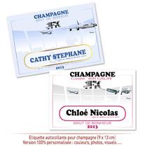 Etiquette personnalisée de Champagne