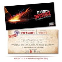 Faire-part Mariage thème Mission Impossible Original pas cher mi:3
