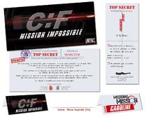 Gamme Faire-part Mariage thème Mission Impossible Original pas cher mi:3