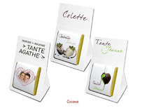 Marque-place mariage chocolat