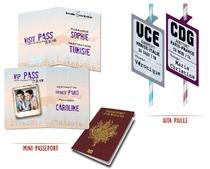 Marque place thème Passeport - Pailles