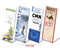 Marques Tables personnalisés Chevalet Escort Table