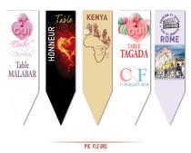Marques Tables personnalisés Pic Fleurs Centre de Tables original