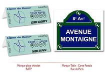 Marque Place - Marque Tables Mariage Métro RATP