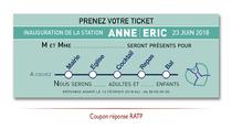 Coupon Réponse Faire-part Mariage Métro RATP