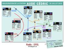Plan de Tables Mariage Personnalisé - Tour EIFFEL - Métro Paris RER Amour Love Coeur