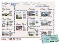 Plan de Tables Faire-part Mariage Métro RATP