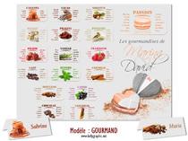 Plan de Table Mariage personnalisé Coeur Macaron Amour Douceur