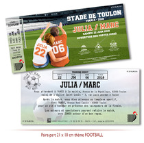 Faire-part Mariage Loisir Insolite Football