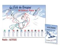 Plan de table - Pistes de Ski