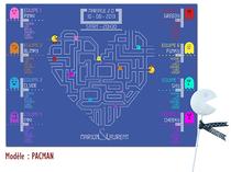 Plan de table - Pacman