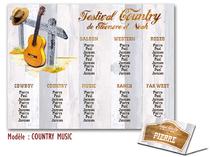 Plan de table - Country Musique