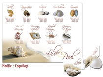 Plan de table - Coquillage