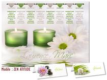 Plan de table - Zen Floral