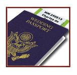 Faire-part Mariage Passeport Voyage Avion