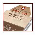 Faire-part Mariage passeport Rétro Vintage