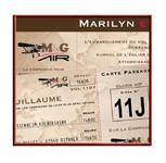 Faire-part Mariage personnalisé Vintage Rétro Voyage Billet Avion Pochette pas cher