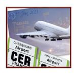 Faire-part Mariage personnalisé Voyage Billet Avion Pochette pas cher