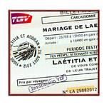 Faire-part Mariage Train Voyage Métro TGV