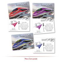 Menus Carte-postale - TGV - EuroStar