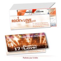 Billet concert Mariage Ticketnet Billet concert Mariage invitation faire-part mariage personnalisée original pas cher musique concert