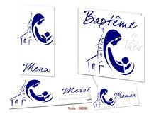 Faire-part Baptême - Baptisé