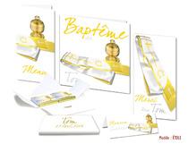 Faire-part Baptême - Etole