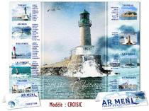 Plan de table personnalisé phares Breton Croisic