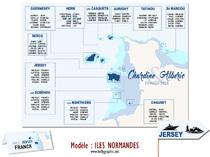 Plan de table personnalisé Mariage Iles Normandes