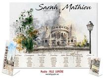 Plan de table - Voyage #Paris Sacré Coeur