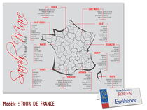 Plan de table - Tour de France