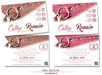 Invitation Noces de Cuir 2 ans de Mariage