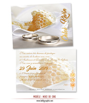 Invitation Noces de Cire 4 ans de Mariage