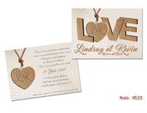 Invitation Noces de Bois 5 ans de Mariage