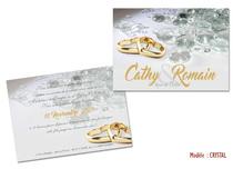 Invitation Noces de Cristal 15 ans de Mariage