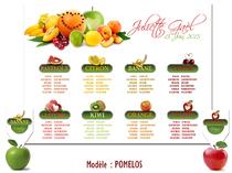 Plan de table - Fruits