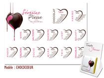 Plan de table - Coeur de chocolat