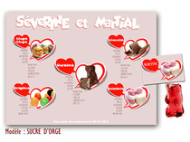 Plan de table - Sucre d'Orge