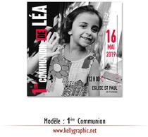 Faire-part Première Communion. Modèle COMMUNION Casa de Papel