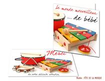 Faire-part Naissance - Musique
