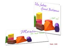 Faire-part Naissance - Cubes